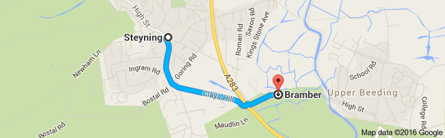Google Map Steyning Bramber