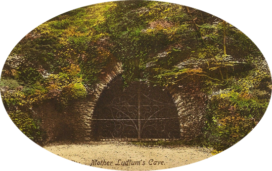 The Cave -An  Edwardian Postcard