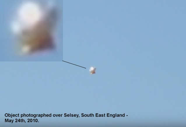 Strange aerial object photographed over Selsey, South East England - May 24th 2010