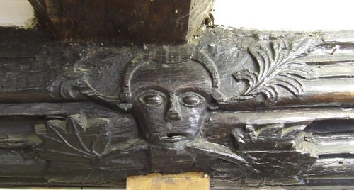 13c Carving in Steyning Post Office