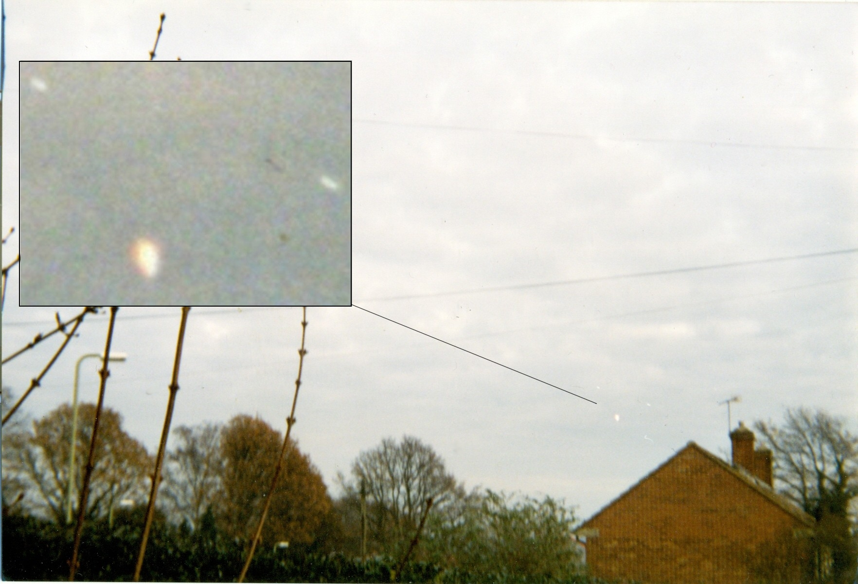 Triangle Formation UFO Photographed - Farnborough, Hants - Late 1990's