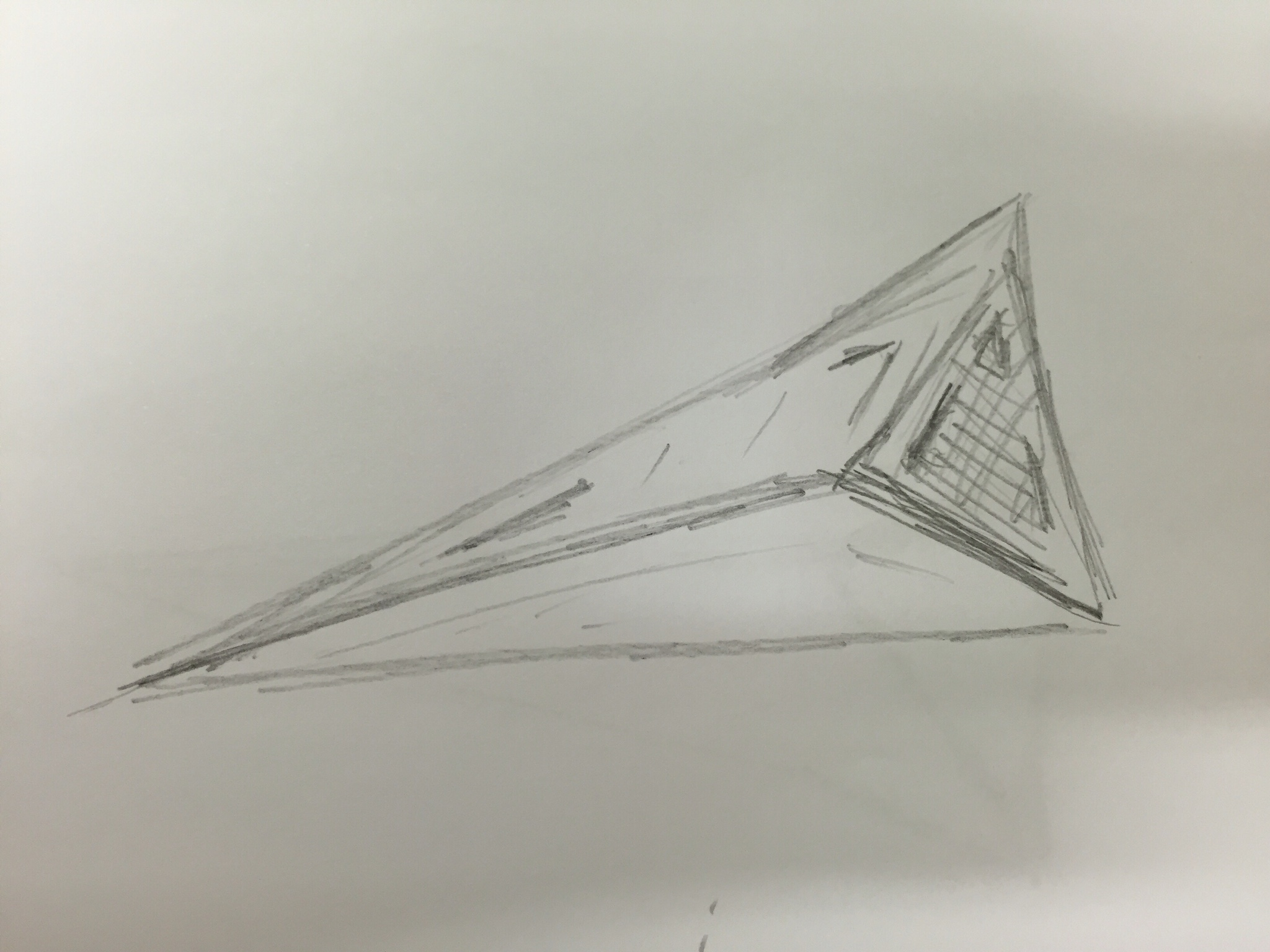 Triangle ufo seen 1970's or 80's